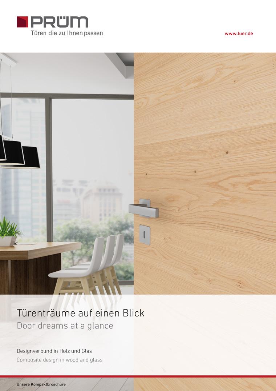 Design Turen Glas Holz Moderne